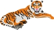 трафарет тигра