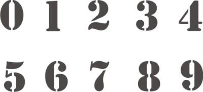 Трафареты цифр своими руками фото