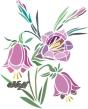 трафарет цветы, Букет колокольчиков