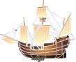 трафарет корабля